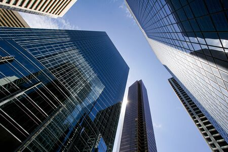 View of Calgary's downtown with skyscrapers. Banque d'images