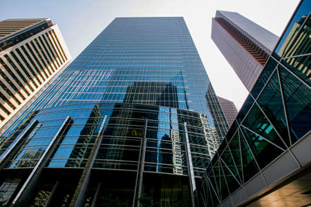 View of Calgary's downtown with skyscrapers.