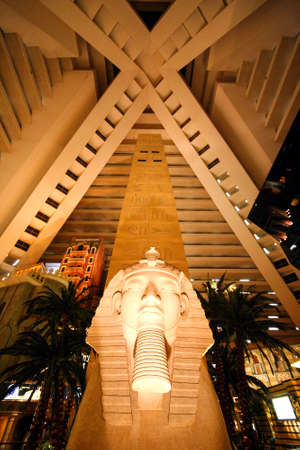 LAS VEGAS, USA - SEP 21, 2017: Ramesses II Colossus , Luxor, a hotel and casino, Las Vegas Strip in Paradise, Nevada