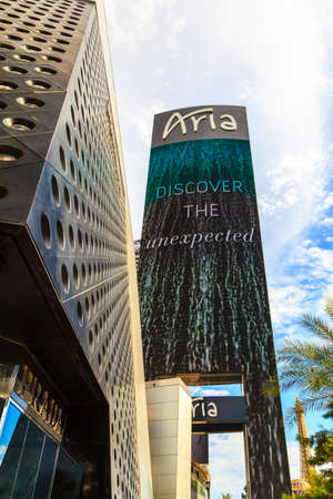 LAS VEGAS, NEVADA USA - JUL 8, 2015: Aria Hotels at City Center, urban complex on 76 acres (31 ha) located on the Las Vegas Strip with different hotels, casinos and residence. Editorial