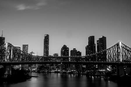 Night time of Brisbane CBD and South Bank. Brisbane is the capital of QLD and the third largest city in Australia