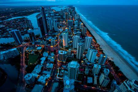 Gold Coast Australia. Surfers Paradise after nightfall