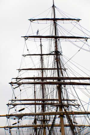 Tall ship mast Standard-Bild