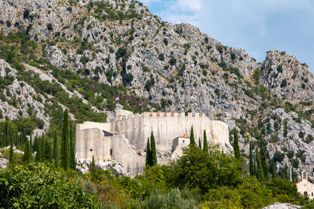 Ruin of a castle near Dubrovnik - Croatia Foto de archivo