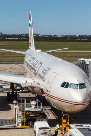 Australia BRISBANE APRIL 19, 2019: Brisbane International Airport become one of the most visited airport in Australia for the many great attractions Queensland can offer. Editorial