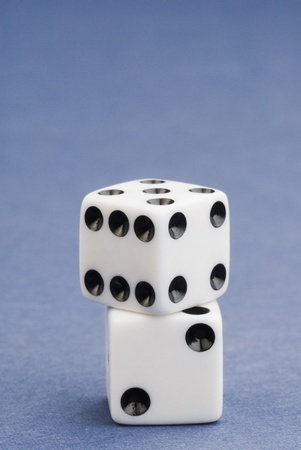 Close-up of two dices Stock Photo - 10205514