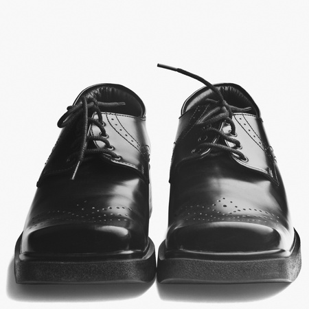 Close-up of a pair of black shoes photo