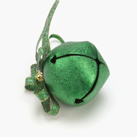 Close-up of a green Christmas bell photo