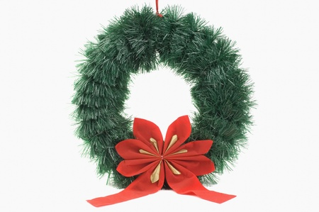 Close-up of a Christmas wreath photo