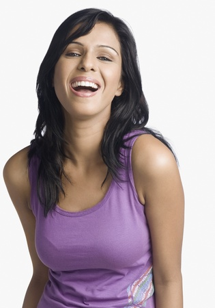 Portrait of a woman smiling Stock Photo