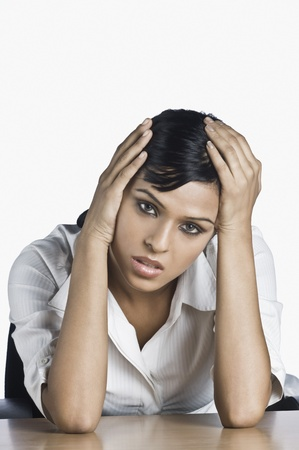 Businesswoman looking worried Stock Photo - 10123453
