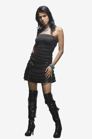 Portrait of a fashion model posing Stock Photo