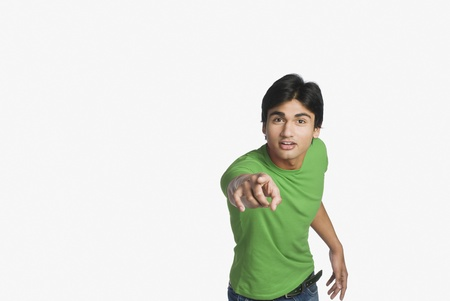 Portrait of a man pointing forward Stock Photo - 10126403
