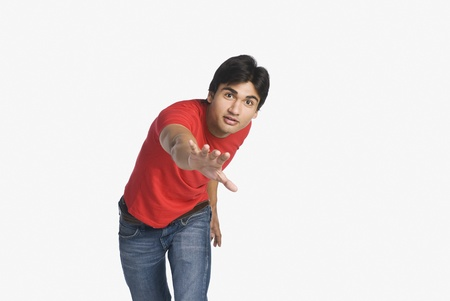 Portrait of a man gesturing Stock Photo - 10123409