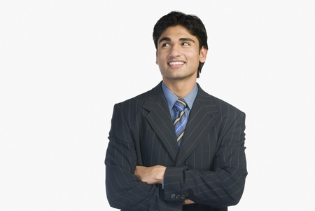 copy space: Close-up of a businessman smiling