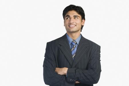 copy space: Close-up of a businessman smiling