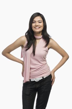 Portrait of a woman smiling 免版税图像