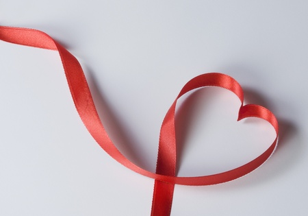 Close-up of a heart shaped ribbon photo