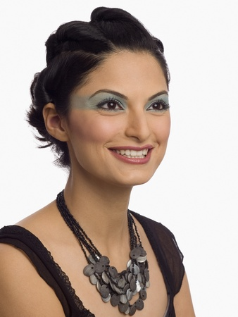 photosindia: Close-up of a female fashion model smiling LANG_EVOIMAGES