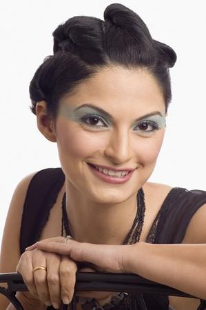 Portrait of a female fashion model posing