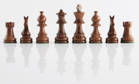 Chess pieces in a row Stock Photo - 10205686