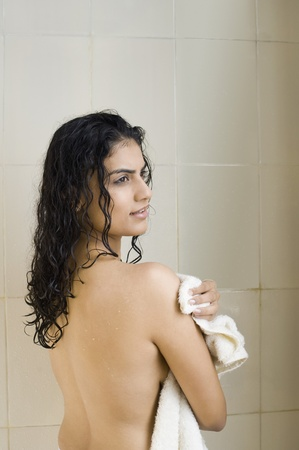 Young woman bathing Stock Photo - 10126042
