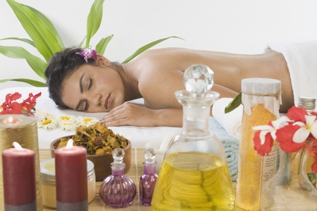 Young woman getting spa treatment Stock Photo - 10123755