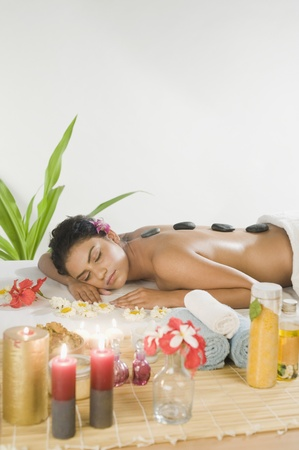 Young woman getting lastone therapy Stock Photo - 10123692