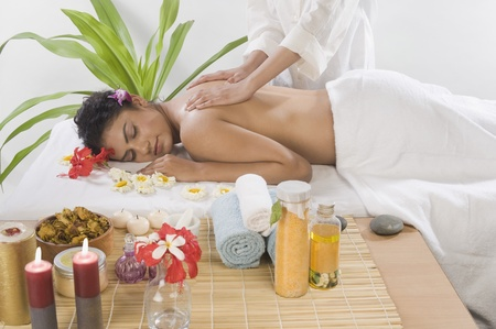 Young woman getting back massage from a massage therapist Stock Photo - 10126026