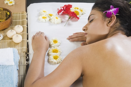 Young woman getting spa treatment Stock Photo - 10126012