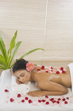 Young woman getting spa treatment Stock Photo - 10125970