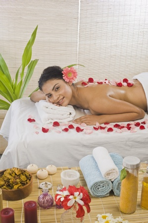 Young woman getting spa treatment Stock Photo - 10125971