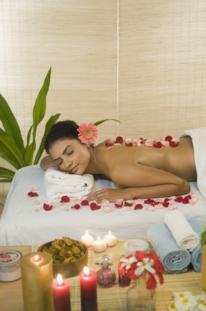 Young woman getting spa treatment Stock Photo - 10125975