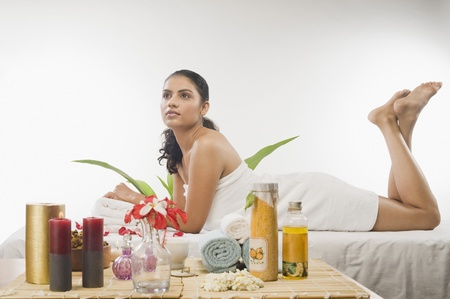 Young woman getting spa treatment Stock Photo - 10126148