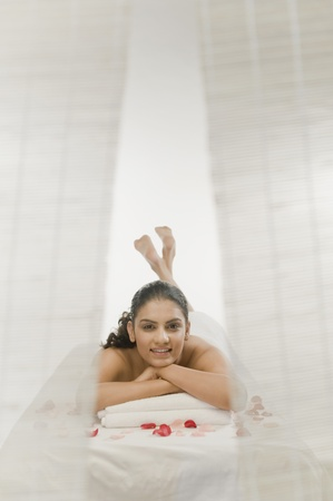 Young woman getting spa treatment Stock Photo - 10126221
