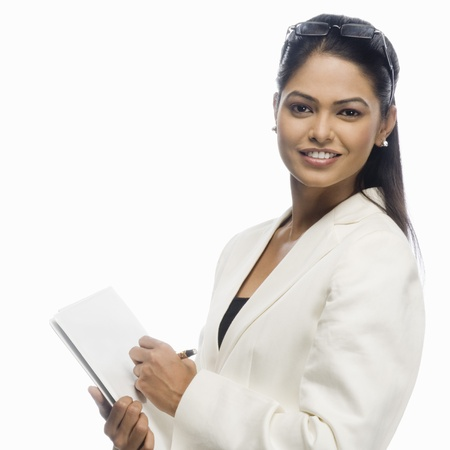 rfbatch15: Portrait of a businesswoman holding a document LANG_EVOIMAGES