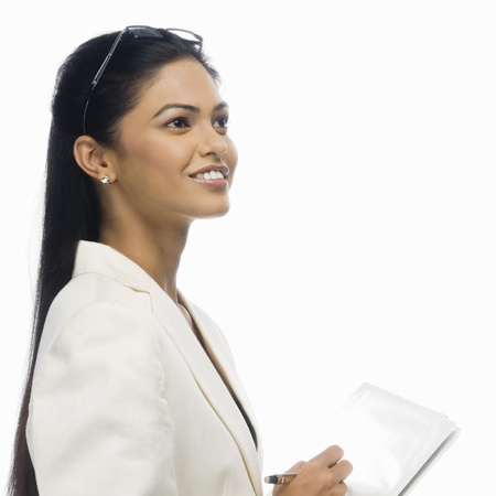 rfbatch15: Close-up of a businesswoman holding a document