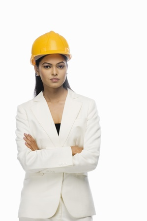 Portrait of a female architect with her arms crossed Stock Photo - 10123467