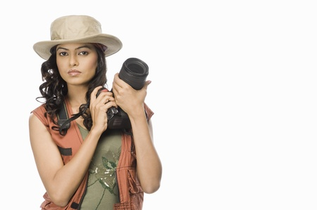 rfbatch15: Portrait of a female photographer with digital camera