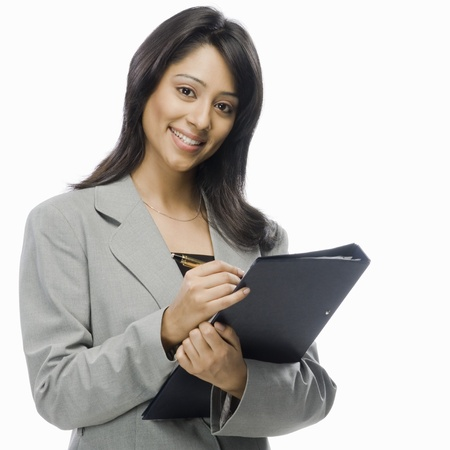 Portrait of a businesswoman holding a file Stock Photo - 10169534