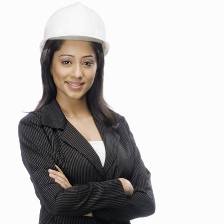 architect: Portrait of a female architect smiling