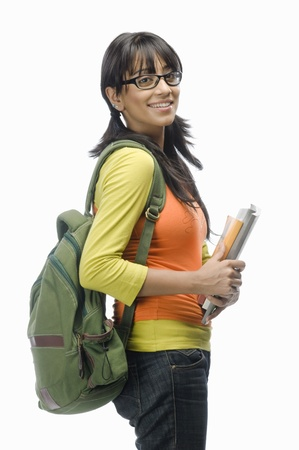 Portrait of a female college student with files Stock Photo - 10123638