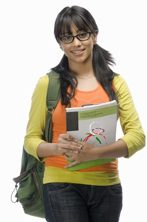Portrait of a female college student with files Stock Photo - 10123748