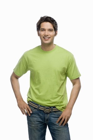 Portrait of a young male fashion model smiling Stock Photo - 10126119
