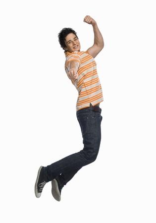 photosindia: Man jumping with joy
