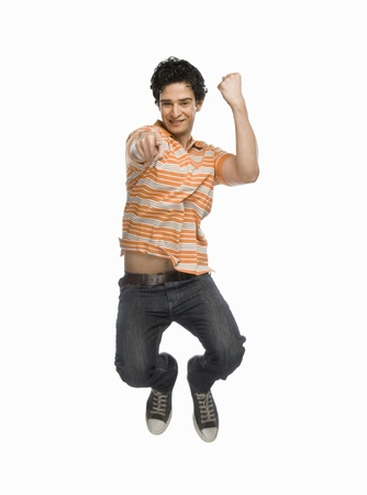 Man jumping with joy Stock Photo - 10123471