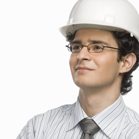 Close-up of a male architect smiling Stock Photo - 10123615