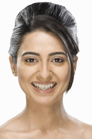 Portrait of a gorgeous fashion model smiling Stock Photo - 10124854