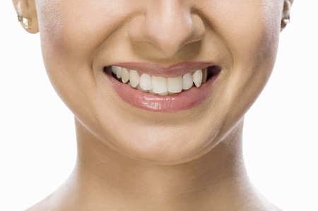 Close-up of a fashion model smiling Stock Photo - 10124836