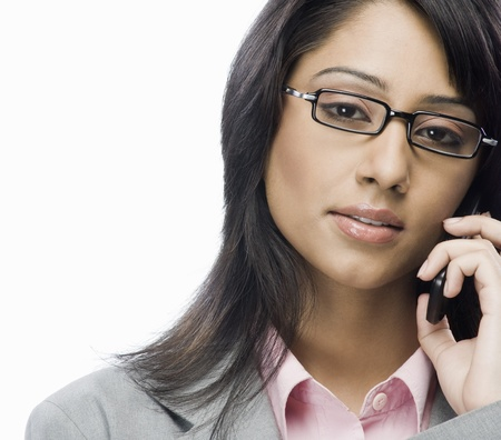 Portrait of a businesswoman talking on a mobile phone Stock Photo - 10124949